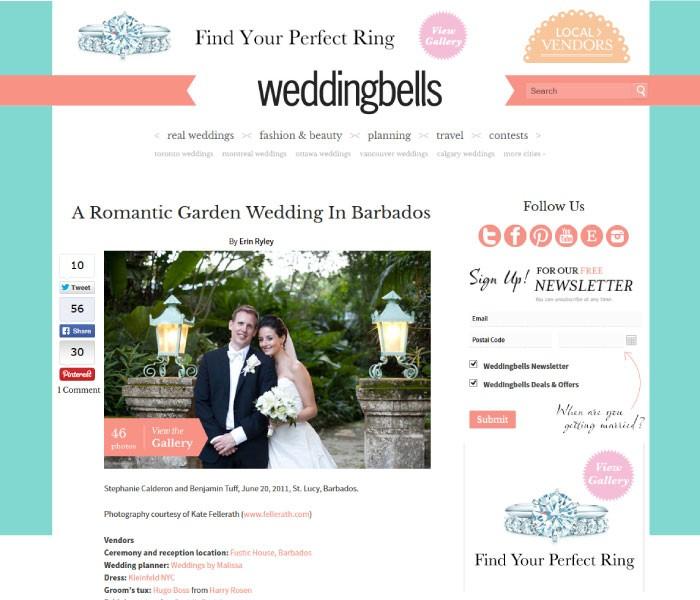A Romantic Garden Wedding In Barbados