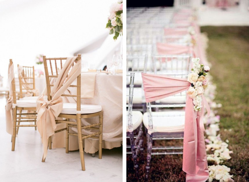 Different Ways To Tie Chair Sashes Weddings By Malissa