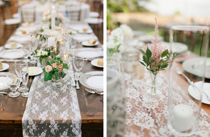 lace table runners weddings by malissa barbados weddings